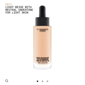 STUDIO WATERWEIGHT SPF 30 FOUNDATION in NW15